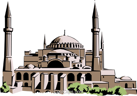 St. Sophia Church Royalty Free Vector Clip Art illustration arch0161