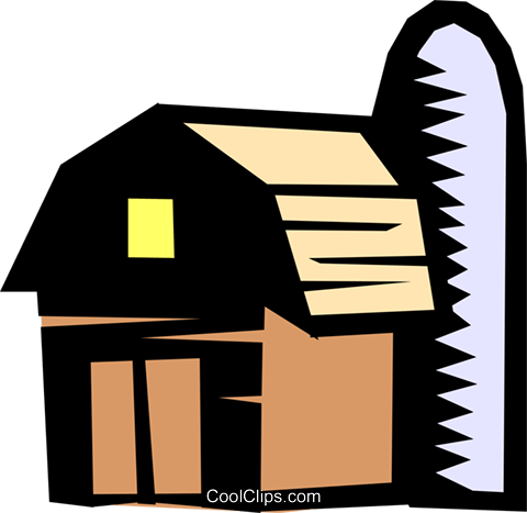 Barn Royalty Free Vector Clip Art illustration arch0292