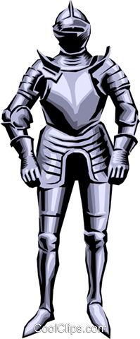 Knight in Armor Royalty Free Vector Clip Art illustration arts0068