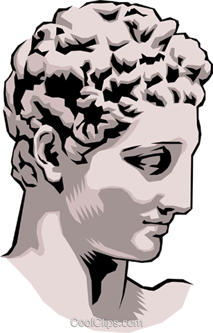 Statue of Hermes Praxiteles Royalty Free Vector Clip Art illustration arts0074