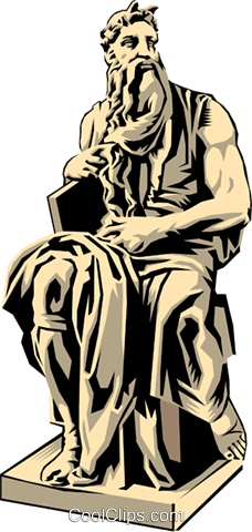 Statue of Moses Royalty Free Vector Clip Art illustration arts0087