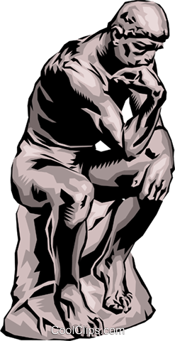 The Thinker Royalty Free Vector Clip Art illustration arts0090