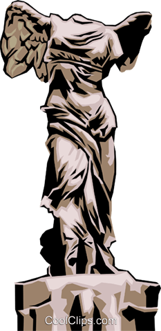 Greek Statue Royalty Free Vector Clip Art illustration arts0092