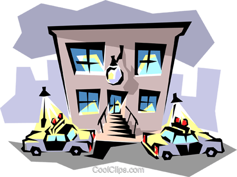 Police station Royalty Free Vector Clip Art illustration busi0119