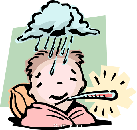 Image result for feeling under the weather clipart