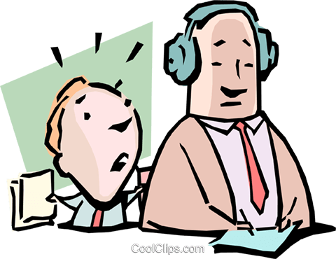 Falling on deaf ears Royalty Free Vector Clip Art illustration cart1006