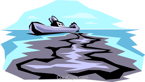 Oil spill Royalty Free Vector Clip Art illustration envi0001