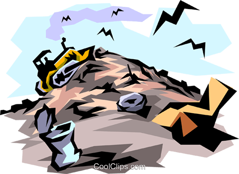 Garbage dump Royalty Free Vector Clip Art illustration envi0002