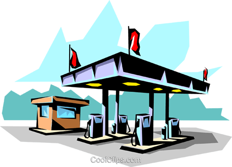 Gas station Royalty Free Vector Clip Art illustration envi0023