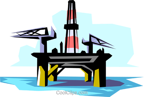 oil rig royalty free vector clip art illustration envi0028 rh search coolclips com oil rig clip art images offshore rig clipart