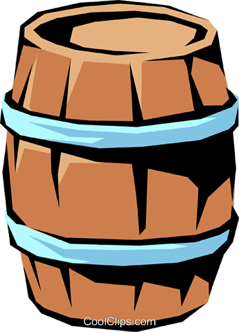Barrel Royalty Free Vector Clip Art illustration indu0337