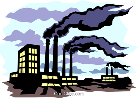 Pollution Royalty Free Vector Clip Art illustration indu0338