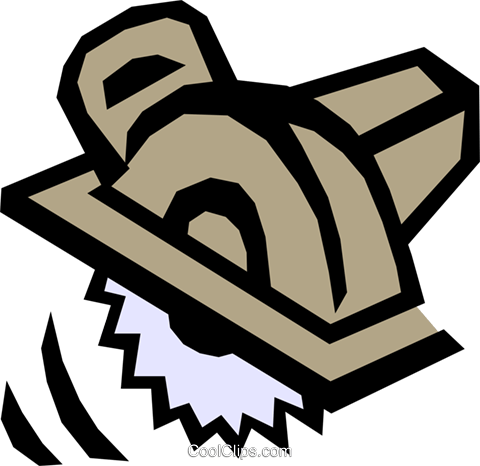Power saw Royalty Free Vector Clip Art illustration indu0545