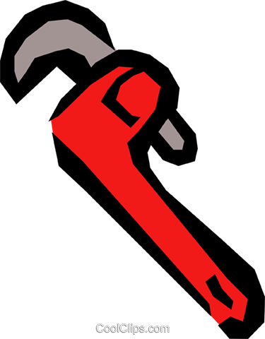 Pipe wrench Royalty Free Vector Clip Art illustration indu0547
