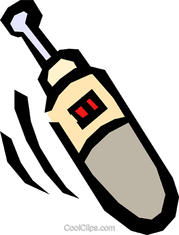 Cordless screwdriver Royalty Free Vector Clip Art illustration indu0551