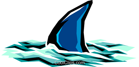 Shark Royalty Free Vector Clip Art illustration anim0523