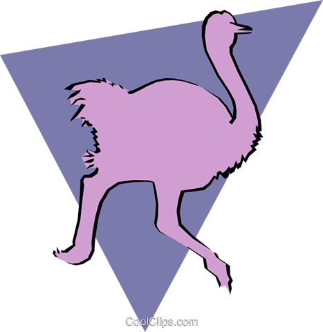Ostrich Royalty Free Vector Clip Art illustration anim0913
