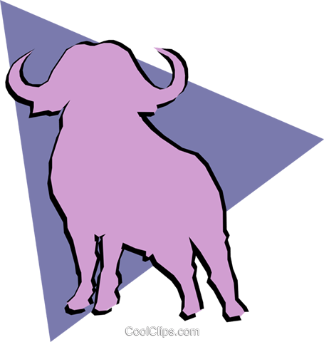 Water buffalo Royalty Free Vector Clip Art illustration anim0921