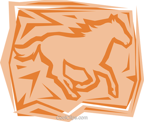 Horse Royalty Free Vector Clip Art illustration anim0935