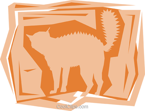 Cats Royalty Free Vector Clip Art illustration anim0945