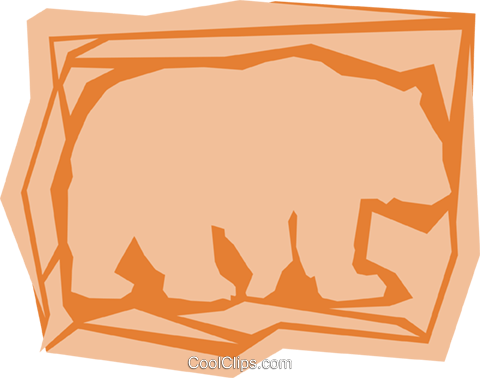 Grizzly bears Royalty Free Vector Clip Art illustration anim0955