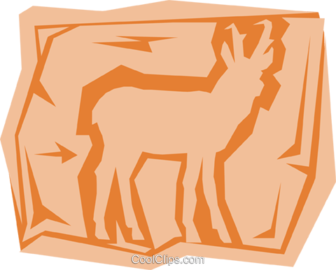 Antelope Royalty Free Vector Clip Art illustration anim0962