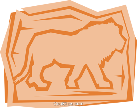 Lions Royalty Free Vector Clip Art illustration anim0968