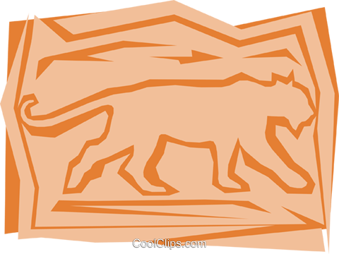 Lions Royalty Free Vector Clip Art illustration anim0969
