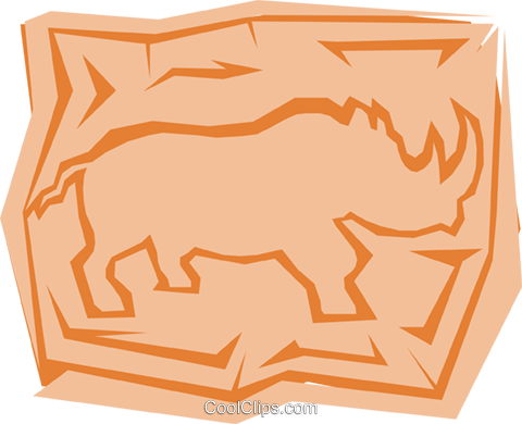Rhinoceros Royalty Free Vector Clip Art illustration anim0977