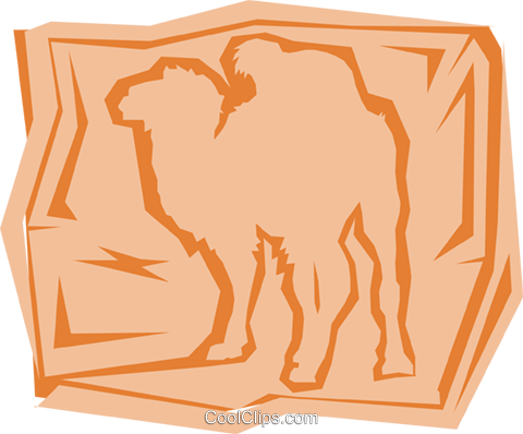 Camel Royalty Free Vector Clip Art illustration anim0979