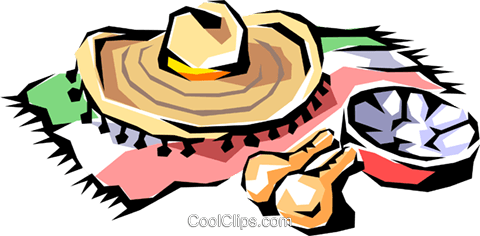 Mexican hat Royalty Free Vector Clip Art illustration arts0094