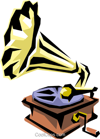Gramophone Royalty Free Vector Clip Art illustration arts0096