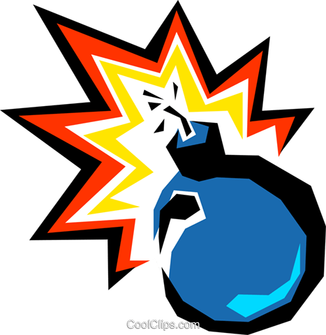 Time bomb Royalty Free Vector Clip Art illustration busi0122