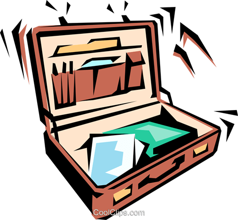 Briefcases Royalty Free Vector Clip Art illustration busi0123
