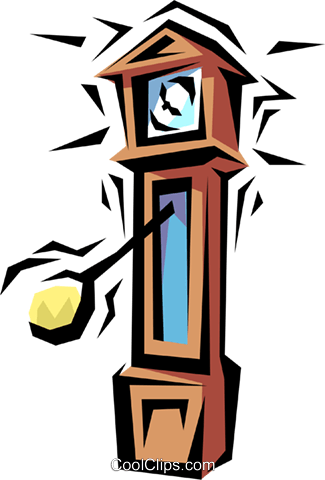 Grandfather clock Royalty Free Vector Clip Art illustration busi0124