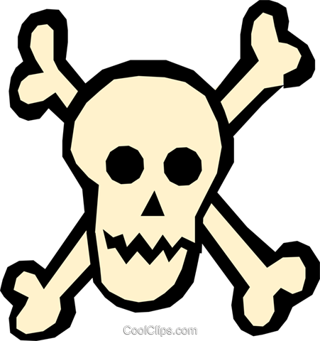 Skull & crossbones Royalty Free Vector Clip Art illustration cart1253