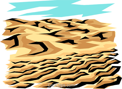 Land erosion Royalty Free Vector Clip Art illustration envi0010
