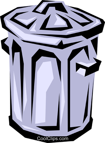 Garbage can Royalty Free Vector Clip Art illustration envi0011