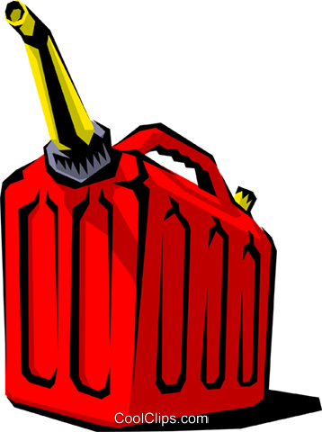 Gas can Royalty Free Vector Clip Art illustration envi0036