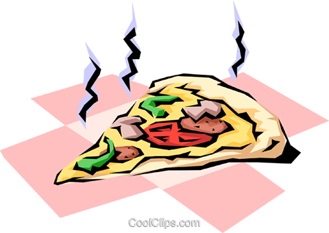 Pizza slice Royalty Free Vector Clip Art illustration food0037