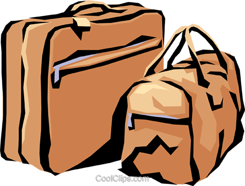 Luggage Royalty Free Vector Clip Art illustration hous0212