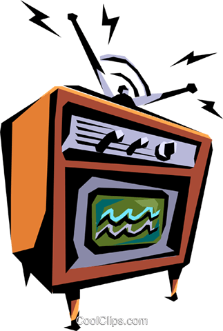 Television Royalty Free Vector Clip Art illustration hous0216