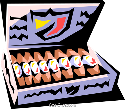 Cigars Royalty Free Vector Clip Art illustration hous0729