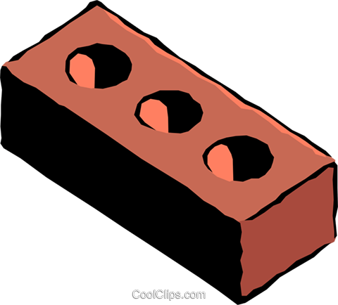Brick Royalty Free Vector Clip Art illustration indu0005