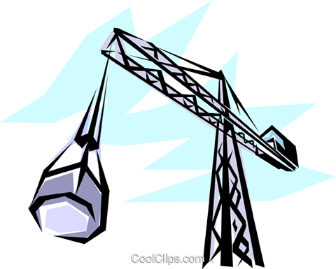 Construction crane Royalty Free Vector Clip Art illustration indu0009