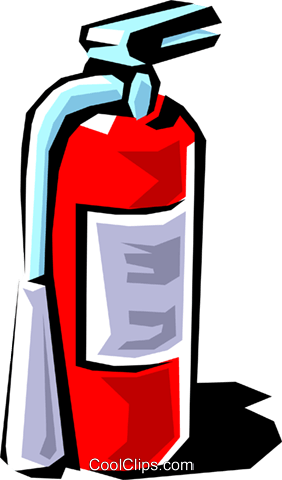 Fire extinguishers Royalty Free Vector Clip Art illustration indu0012