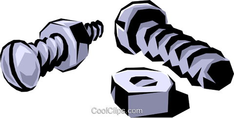 Nuts & bolts Royalty Free Vector Clip Art illustration indu0022