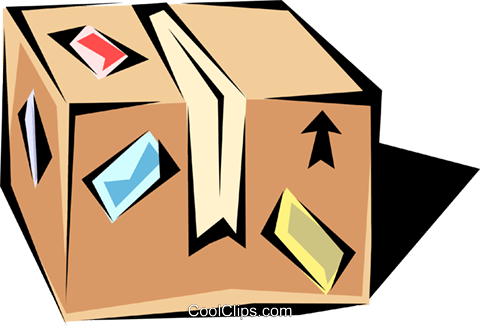 Shipping cases Royalty Free Vector Clip Art illustration indu0341