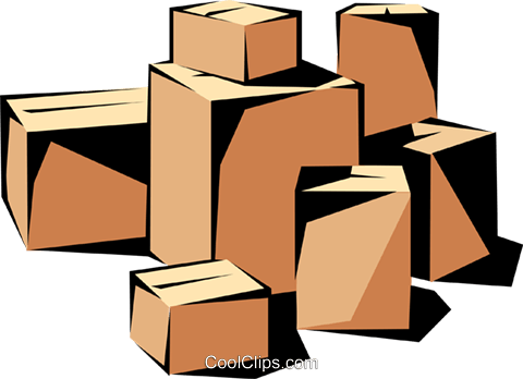 Shipping cases Royalty Free Vector Clip Art illustration indu0342
