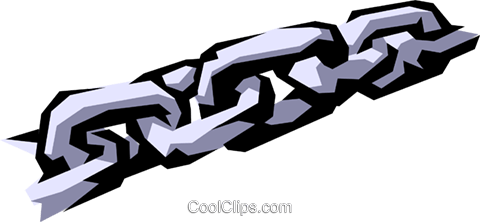 Chain links Royalty Free Vector Clip Art illustration indu0344